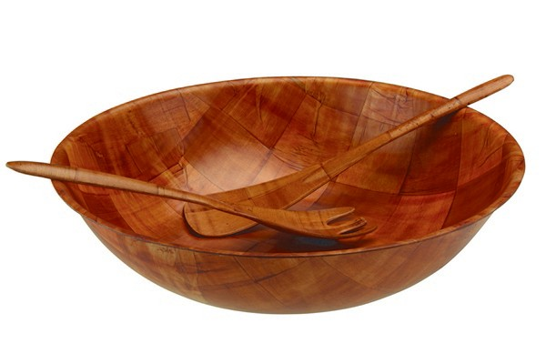 Wooden Salad Bowl And Servers Wooden Salad Bowl Set